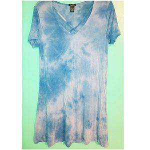 Tye- dye blue dress